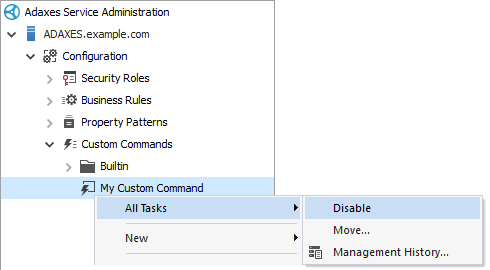 Disable a Custom Command