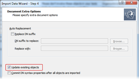 Updating Existing Objects During Data Import
