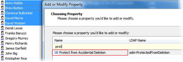 Protection from Accidental Deletion in Bulk